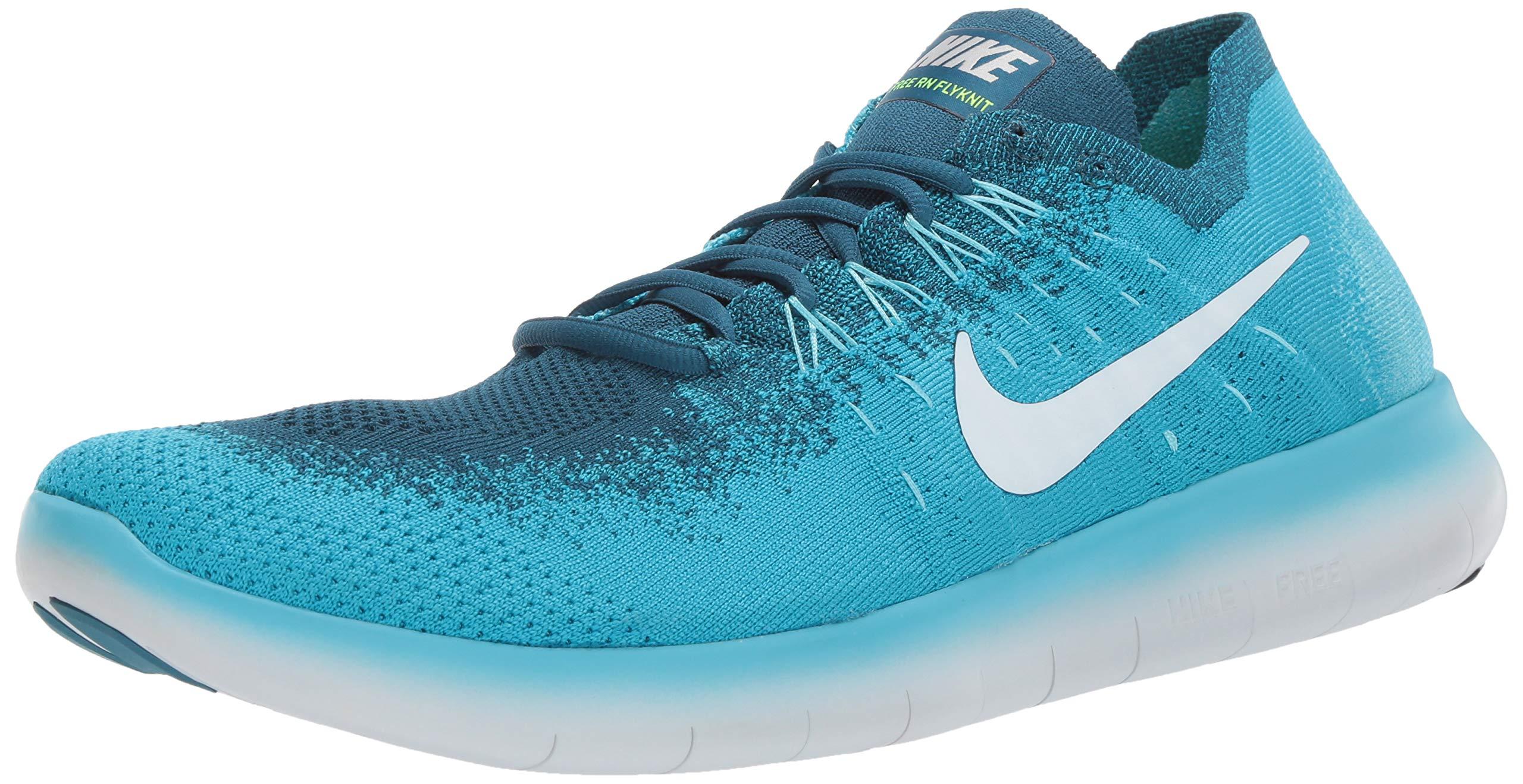 NIKE Free RN Flyknit 2017 SZ 9.5 Mens Running Blue LagoonPure Platinum Legend Blue Shoes