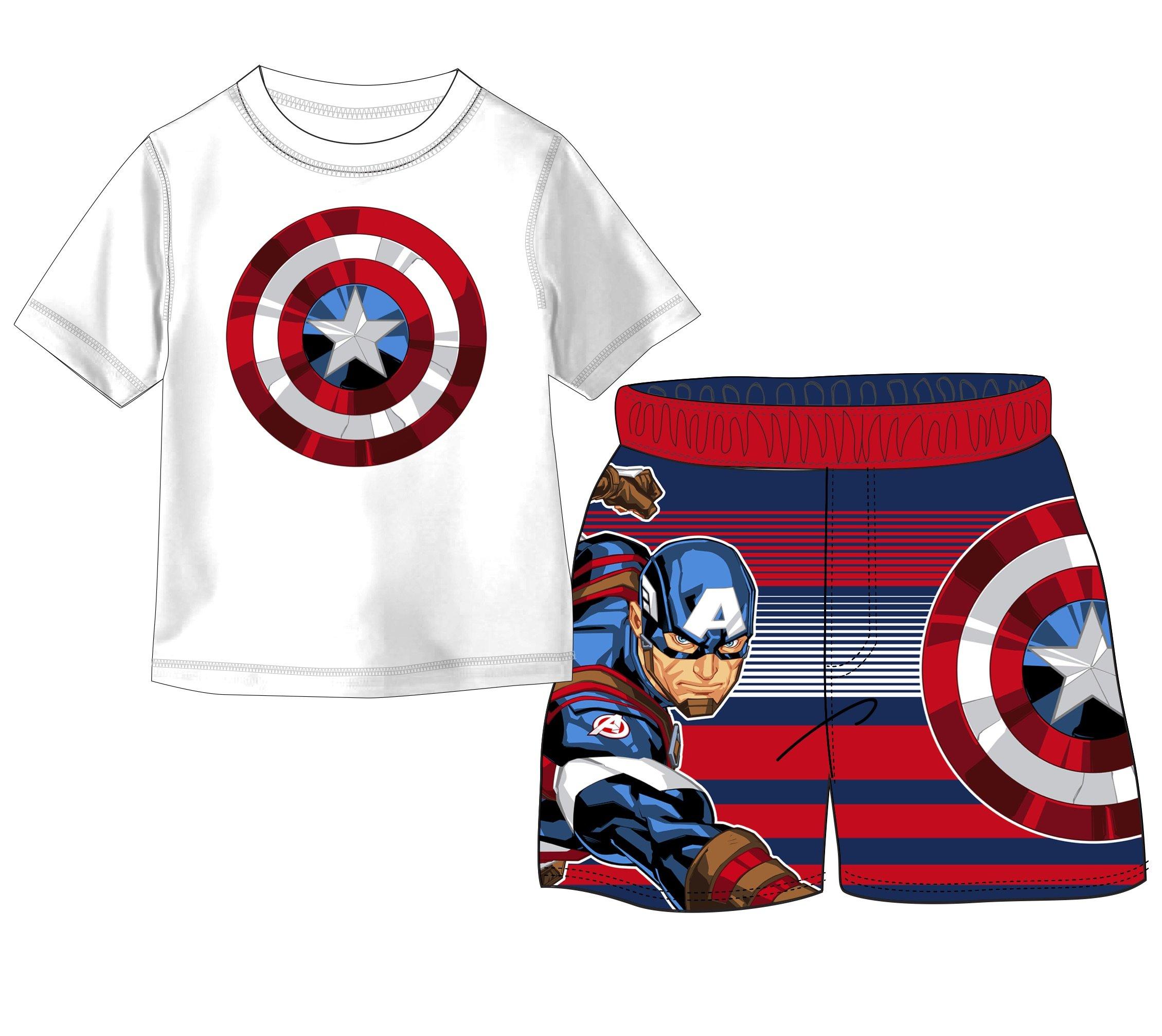 Marvel Boys' Captain America 2-Piece Swim