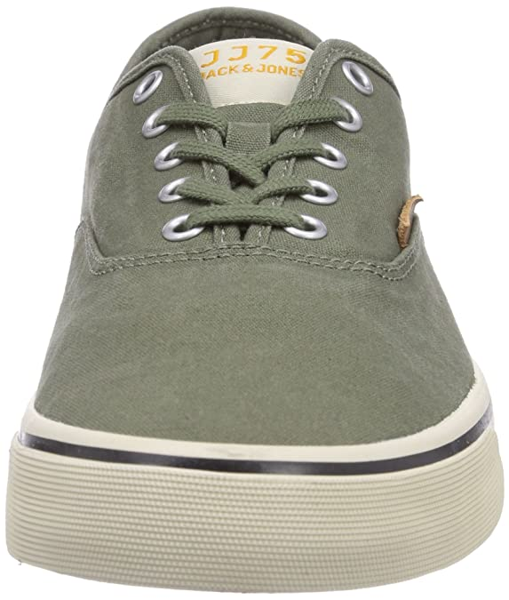 JACK & JONES JJSurf Cotton Low Sneaker Deep Lichen G, Sneakers da uomo, verde(gr��n (deep lichen verde)), 40