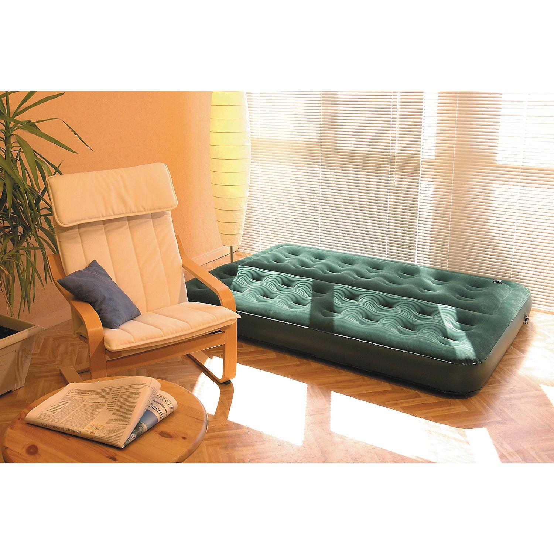 Coleman Comfort - Cama de aire, 188 x 137 x 22cm, color verde, soporta hasta max. 295 kg: Amazon.es: Deportes y aire libre