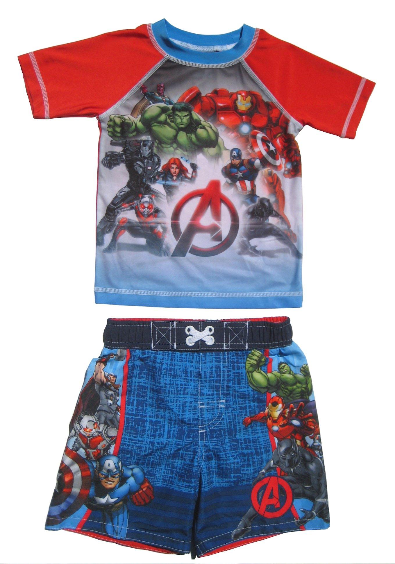 Dreamweave Boys Rash Guard Set (Avengers, 4T)