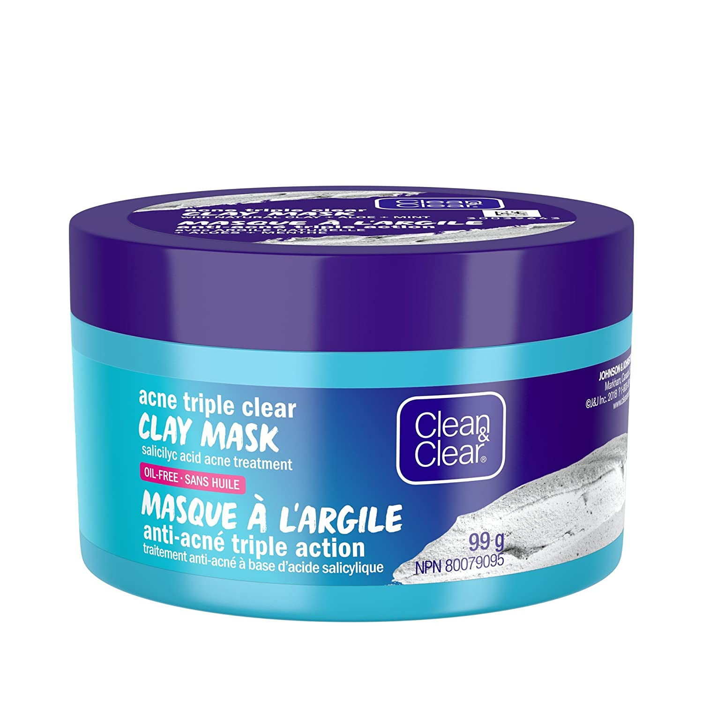 Clean & Clear Acne Clay Face Mask Treatment, Acne Triple Clear, 99g Johnson & Johnson