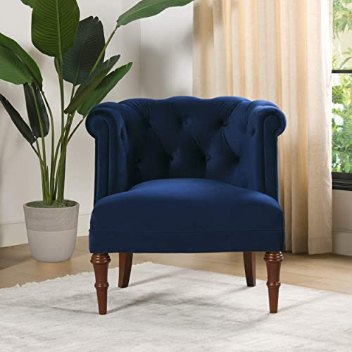 Jennifer Taylor Home Katherine Accent Chair, Navy Blue
