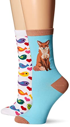 k bell women s 2 pack novelty crew animal 9 to 11 at amazon