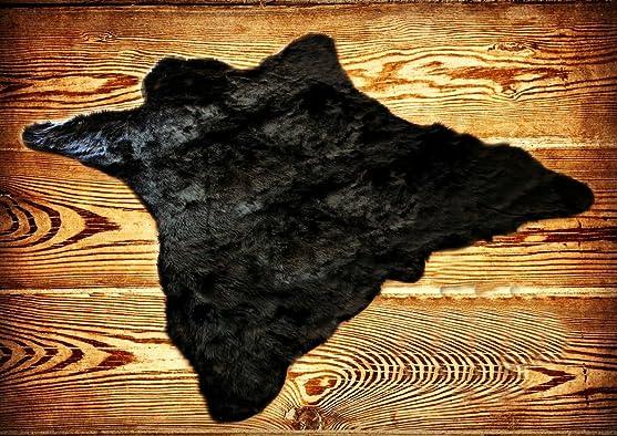 Editors' Choice: Fur Accents Classic Black Bear Skin Accent Rug Plush Faux Fur 8'