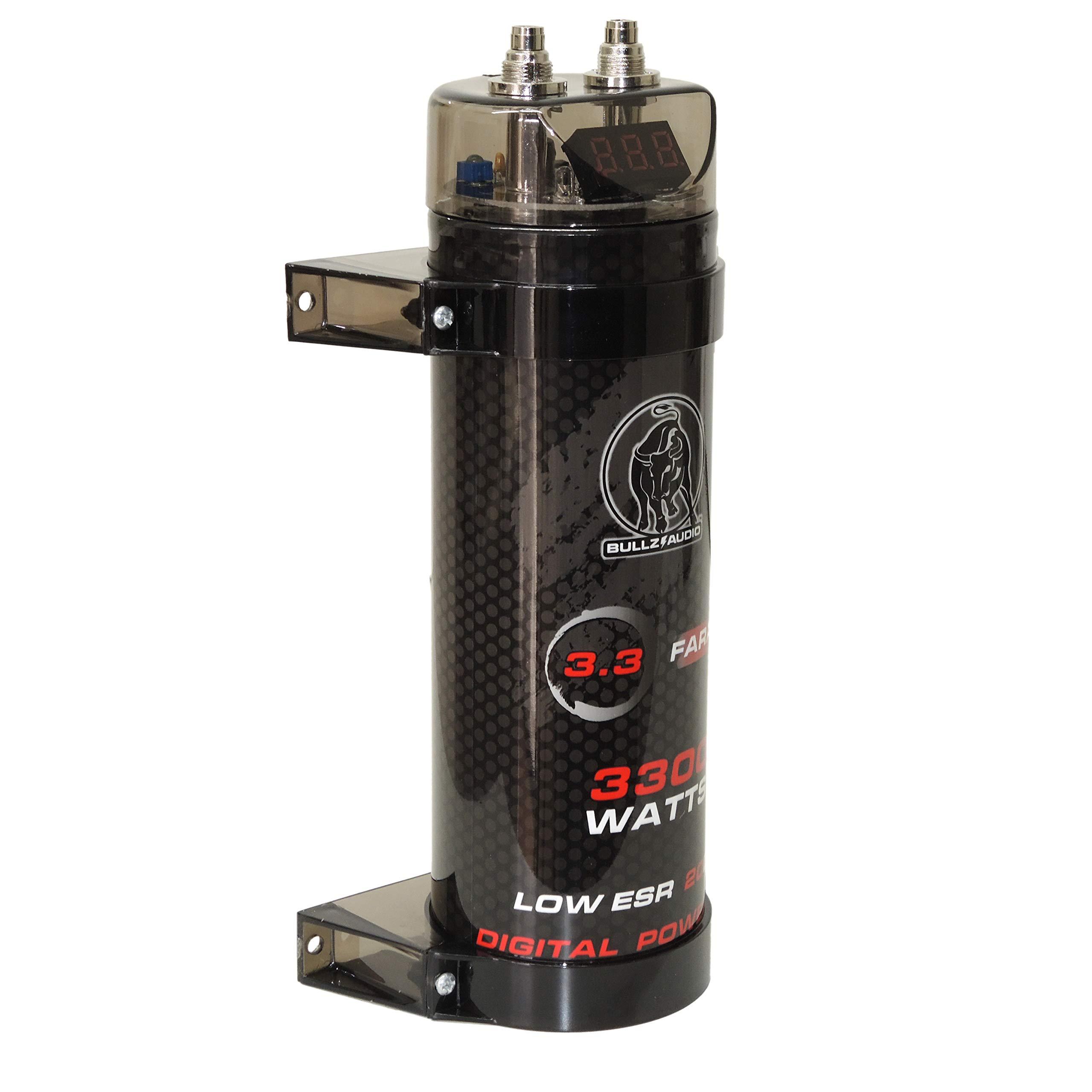 Bullz Audio 3300W 20VDC BCAP3.3 Car Digital Power 3.3 Farad Capacitor Cap
