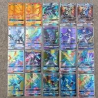 BSTEle Pokémon kaarten met cartoon Pokémon, verzamelkaarten, speelkaarten voor kindergeschenken, 100 stuks