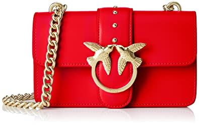 separation shoes 863f7 468b0 Pinko Mini Love Simply 3 Tracolla, Women's Shoulder Bag, Red ...