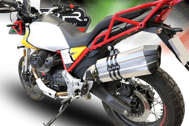 Gpr Auspuff Kompatibel Moto Guzzi V85 Tt 2019 2020 Auspuff Genehmigt Mit Sonic Edelstahl Auto