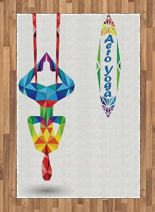 Amazon.com: Ambesonne Yoga Area Rug, Aerial Aero Anti ...