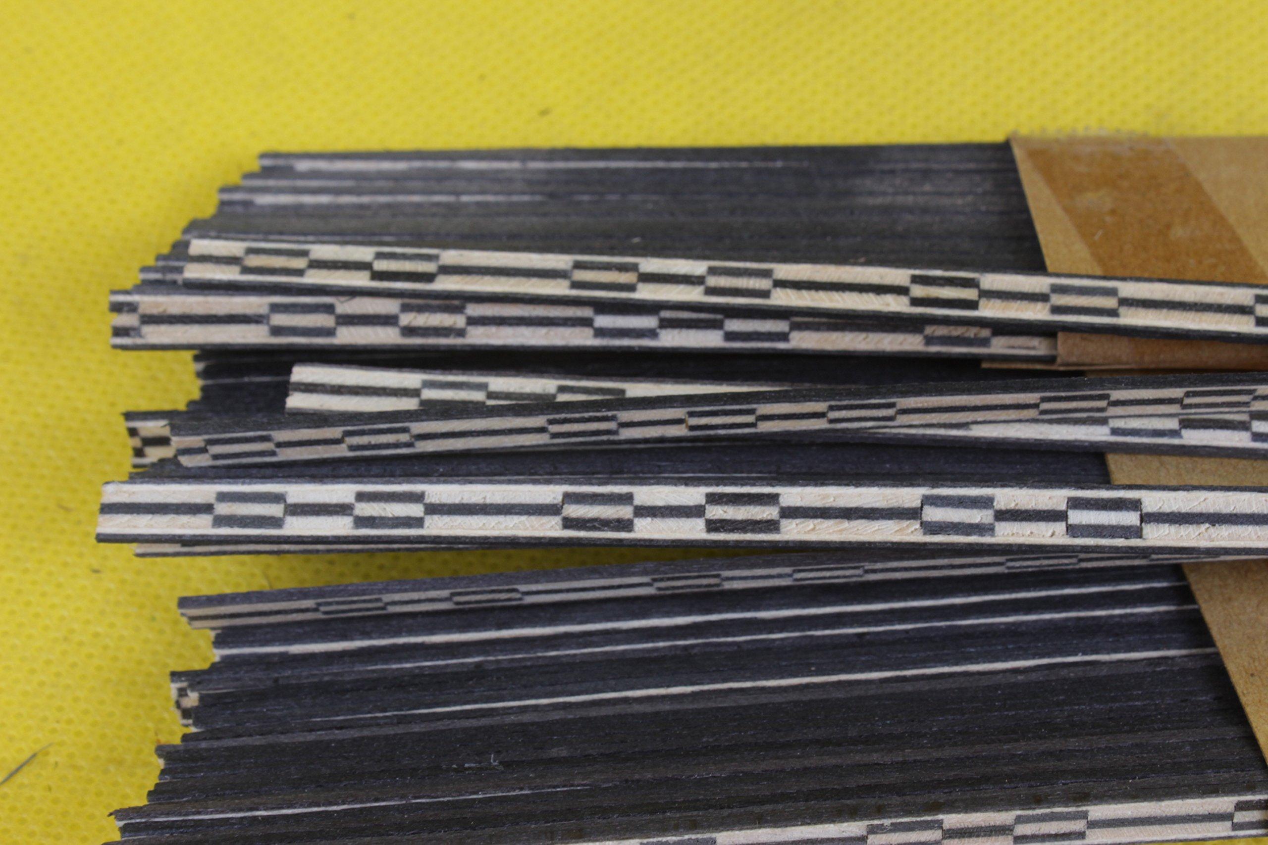 Yinfente 20x Guitar Strip Inlay guitar Luthier Figured Purfling Guitar Body Binding Wood Inlay 640x3x1.0mm #64