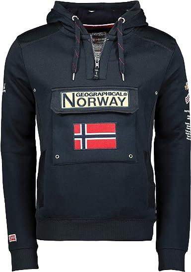 TALLA S. Sudadera de Hombre GYMCLASS ESS Geographical Norway