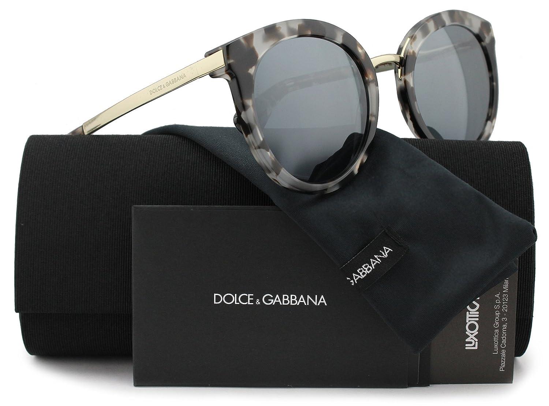 420046187eb7 Dolce   Gabbana DG4268 Sunglasses Grey Havana w Grey Mirror (2888 6G) DG  4268 28886G 52mm Authentic  Amazon.co.uk  Clothing
