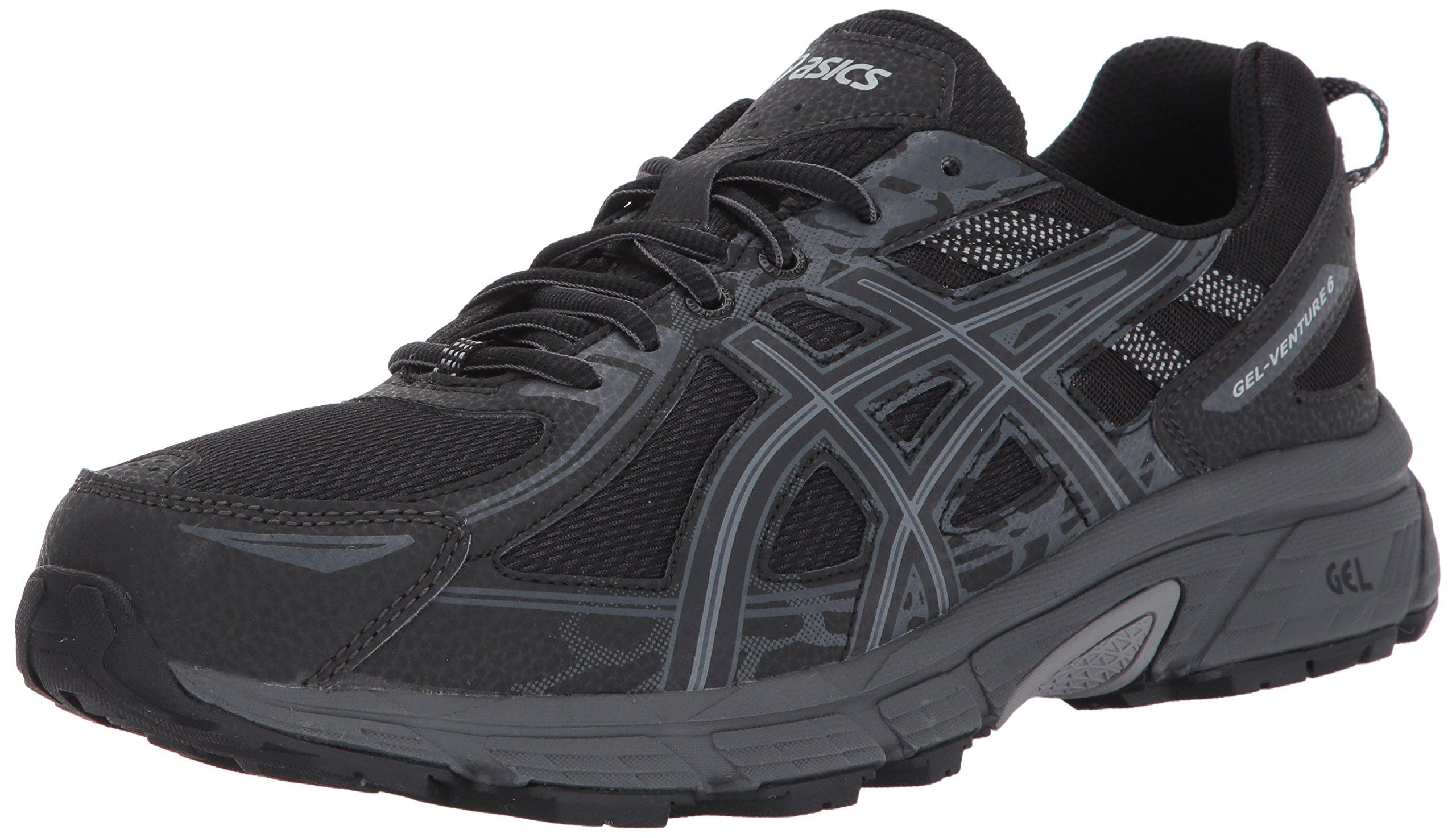 ASICS Mens Gel-Venture 6 Running Shoe, Black/Phantom/Mid Grey, 7.5 Medium US