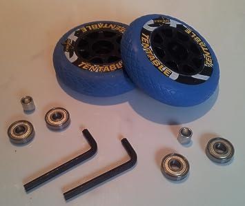Tentable - Juego de 2 ruedas y 4 rodamientos ABEC 5