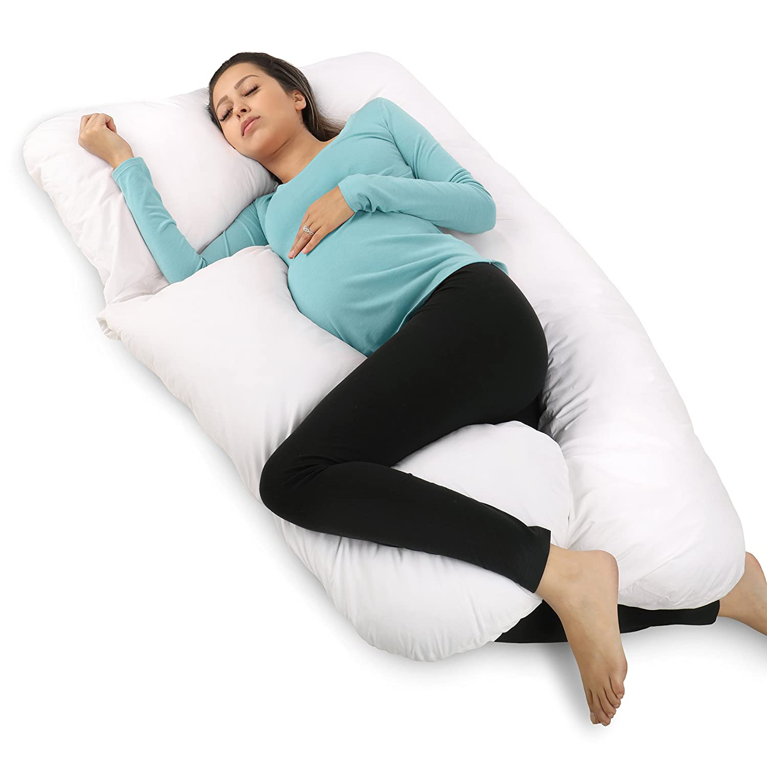Pregnancy Pillow, U-Shape Full Body Pillow by PharMeDoc, Maternity Support Pillow