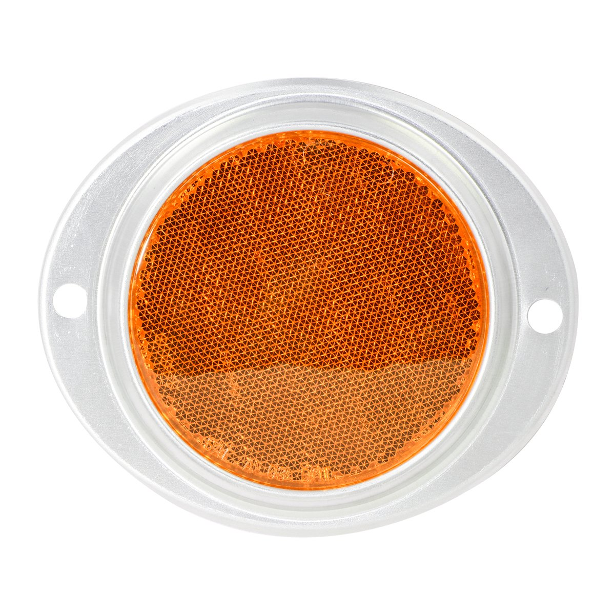 "Grand General 80811 Round Amber 3"" Stick-On Reflector for Trucks, Towing, Trailers, RVs and Buses, 1 Pack"
