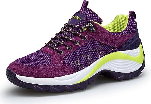DAFENP Zapatillas de Mujer Deportivas Running Trail Gym Sneakers Comodos Zapatos Tacón