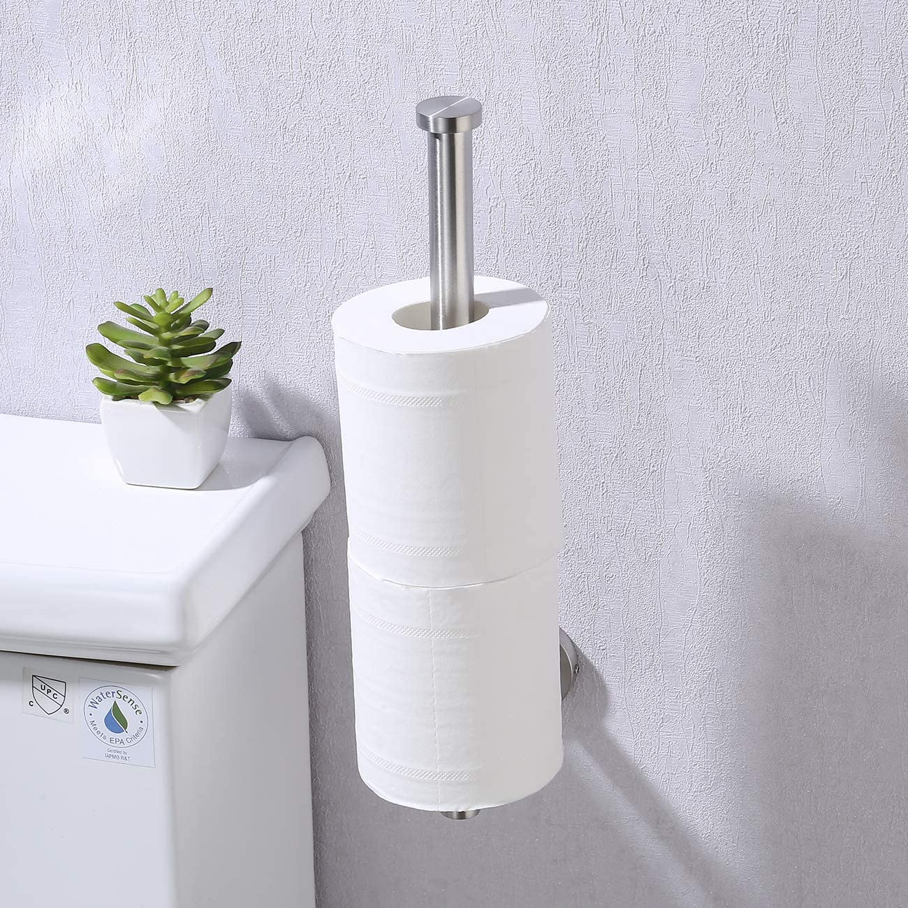 Kes Paper Towel Holder for Kitchen /& Bathroom 11 Inch SUS 304 Stainless Steel Paper Towel Holder Dispenser Wall Mount//Under Cabinet Brushed Nickel A2175S30-2