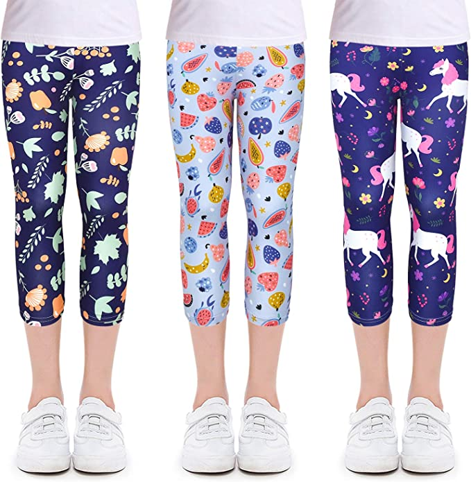 Girls Leggings Stretchy Kids Pants