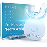 Purean Teeth Whitening Kit with LED Light – 2 Syringes of 5ml Professional 35% Carbamide Peroxide Tooth Whitener Gel – Bright
