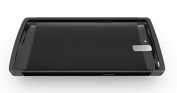 TUDIA OnePlus One Funda, Ultra Delgado Lite TPU Caso de Parachoques de protección Funda Carcasas para OnePlus One (Negro)