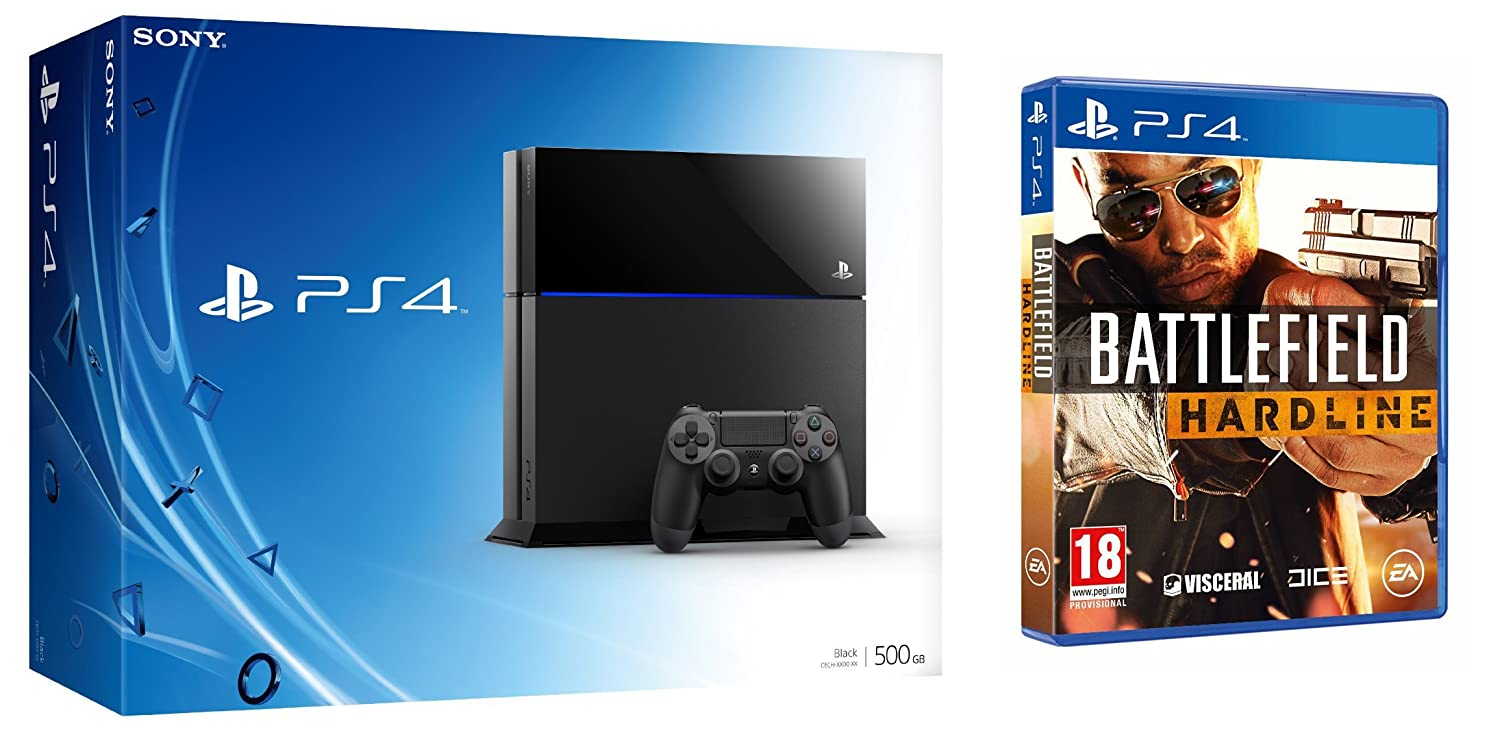 PlayStation 4 - Consola 500 GB + Battlefield: Hardline: Amazon.es: Videojuegos