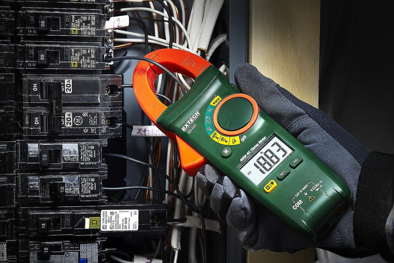 Extech MA440 Medidor de pinza de CA RMS real de 400 A con VSC