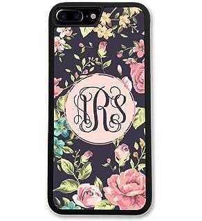3aebcad5eb7 Amazon.com  Custom iPhone 6s Case Monogram Personalized Black Grey ...