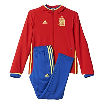 Trainingsanzug Spanien Fussball 2016 2017 Adidas (Blau)