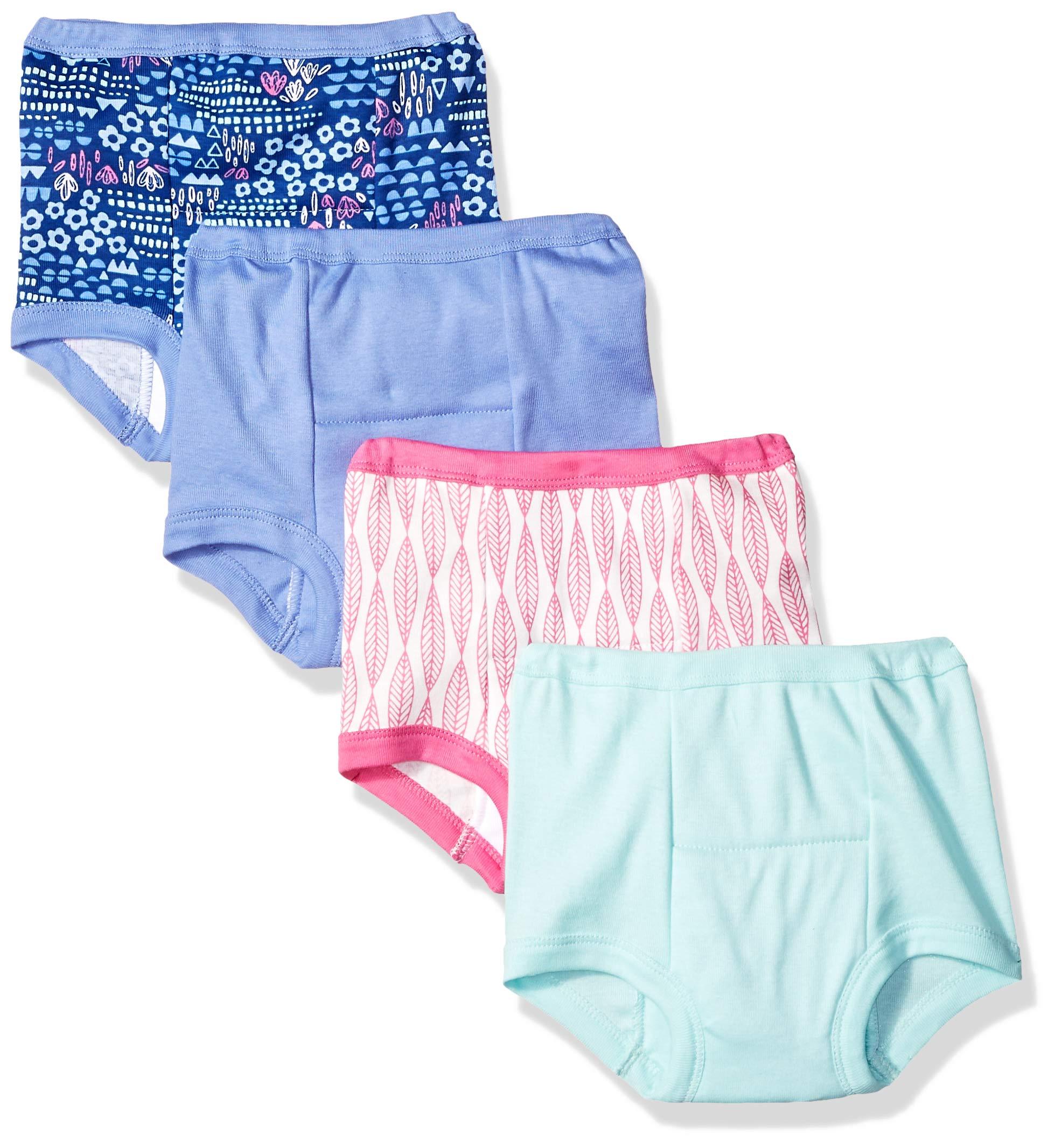 Lamaze Girls' Toddler Organic 4 Pack Training Pants, Pink, 3T