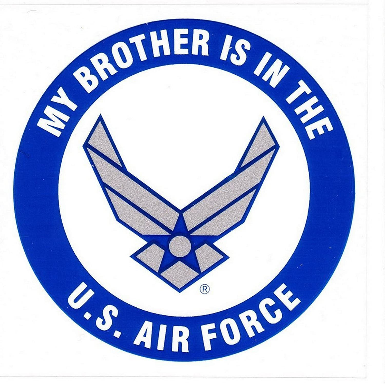 UNITED STATES AIR FORCE LOGO USAF Vinyl Window Decal//Sticker BLUE//CHROME SILVER