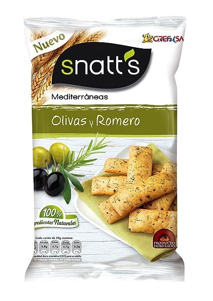 Snatts Mediterráneas Pan con Sabor a Olivas y Romero - 110 g