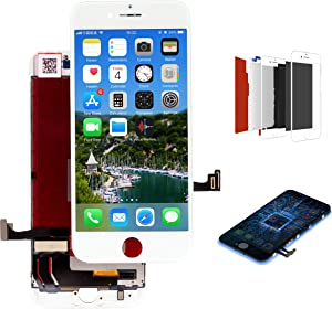 White for iPhone 8 4.7 Inch LCD Display Touch Screen Digitizer Assembly Screen Replacement Full Set with Tools (Model: A1863, A1905, A1906)