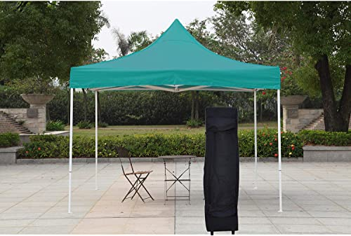 AMERICAN PHOENIX Pop Up Canopy Tent 10×10 Portable Instant Commercial Outdoor Beach Heavy Duty Market Shelter 10x10FT with Carry Bag , Teal