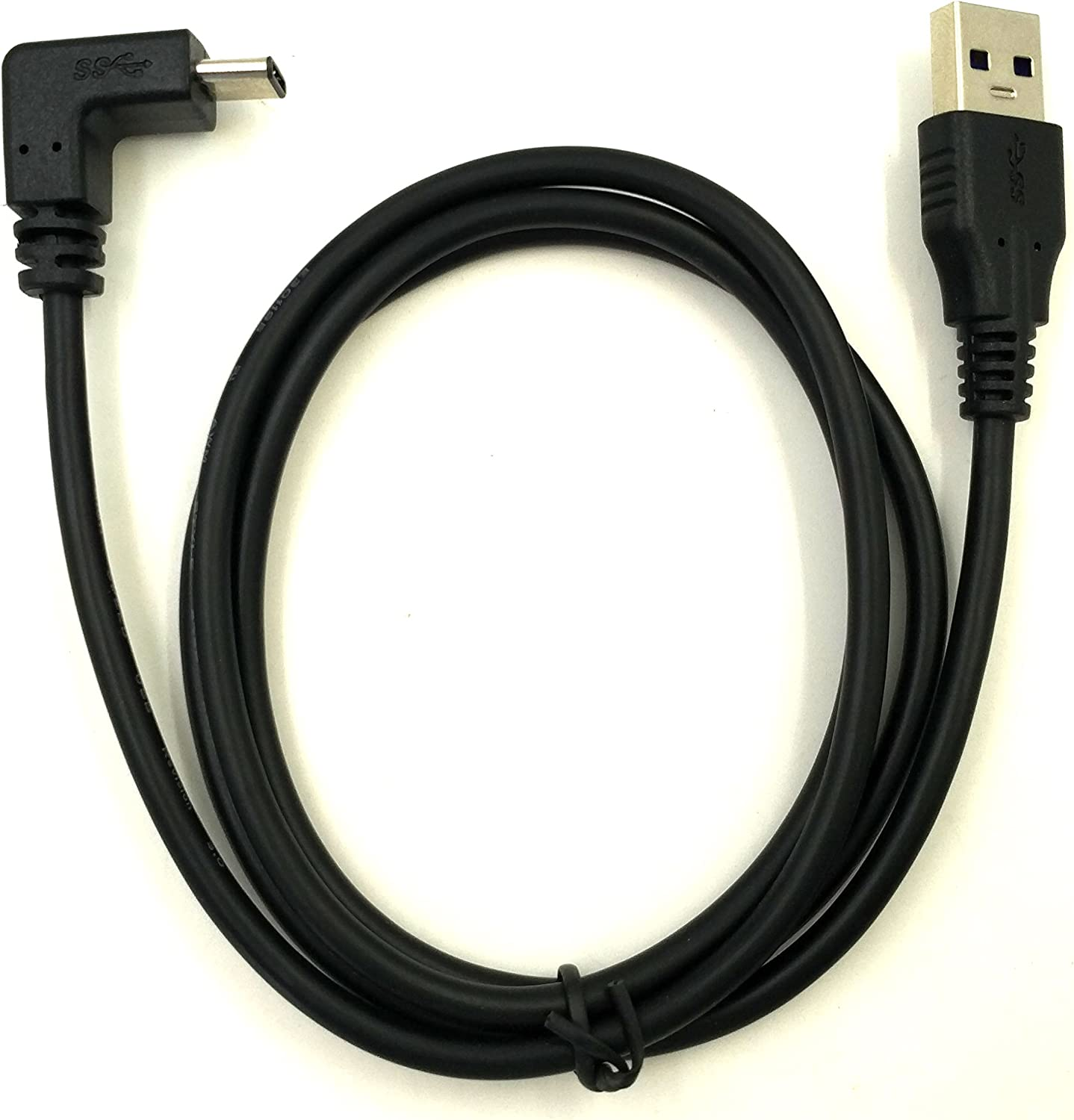 Type A Exuun Type C 90 Degree Cable 1M// 3.3 ft USB 3.0 Male t.. Free Shipping