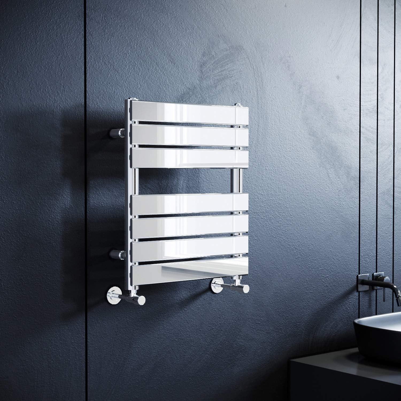 Designer Bathroom Flat Panel Heated Towel Rail Warmer Radiator Rad Chrome