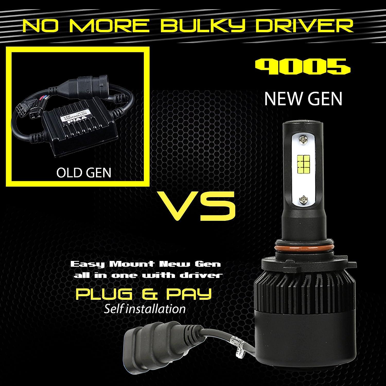 Cool White 6000K 6K Bulb Fog Light Bulbs 36W 4000LM Korean Seoul Y19 CSP LED Chip Motorcycle Headlight Conversion Kit 880//881 // 899//893 Stark 4350356419