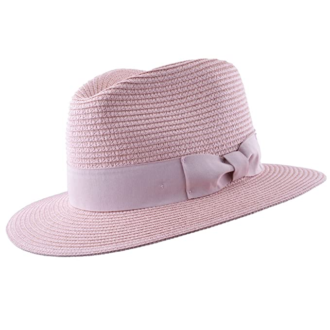 a3ea8a4698566 MAZ Unisex Paper Straw Crushable Foldable Summer Panama Fedora HAT with  Band and Adjustable Sweatband in 8 Colours  Amazon.co.uk  Clothing