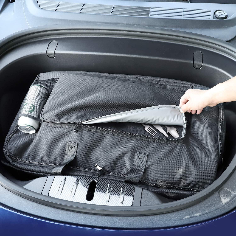 Basenor Tesla Model 3 Model X Frunk Kühler Organizer Isolierkühlertasche Mit Masche Taschen Auto