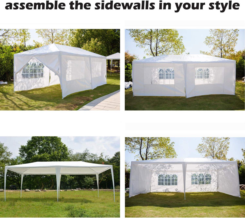 Garden Gazebo Marquee Party Tent Wedding Canopy Coffee Heavy Duty 3x3m//3x4m//3x6m