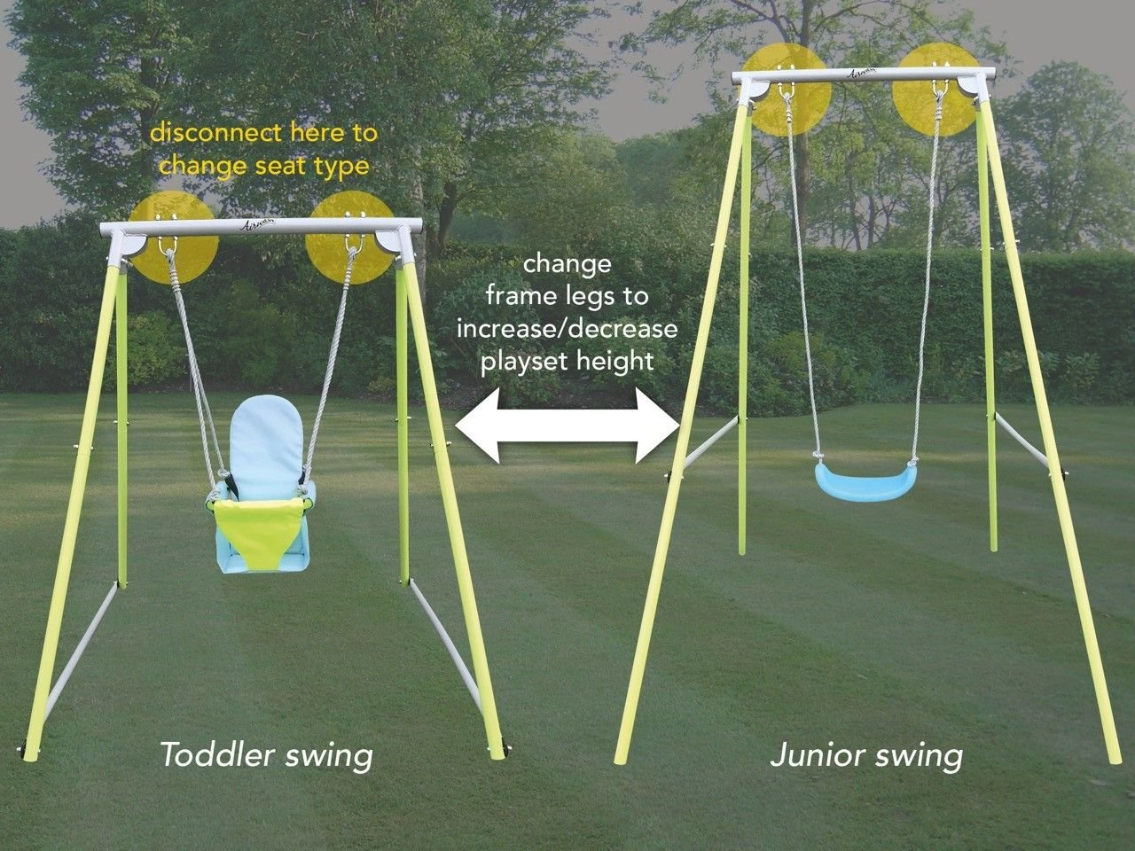 Airwave 2 in 1 Toddler/children's Swing Expressco Direct