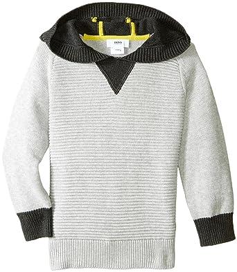 6156b61d8 Amazon.com: Hugo Boss Boys' Hooded Knitted Sweater: Clothing