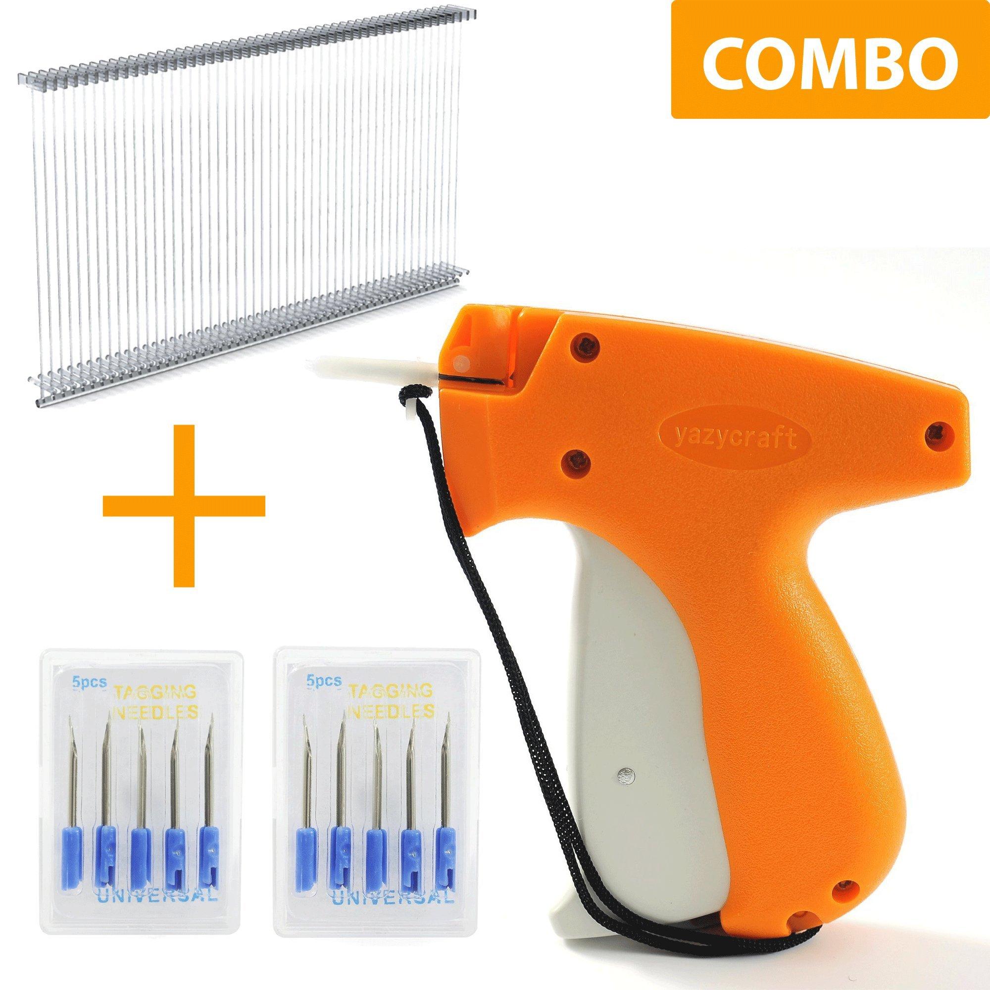 YazyCraft Tagging Gun Pricetag Gun Tag Gun with 10 Replacement Needles Kit with 1000 2'' Barbs by YazyCraft