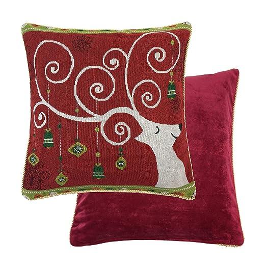 Relleno Navidad Rudolph Reno Ciervo Bolas Rojo Chenille ...