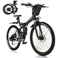 Vivi Bicicleta Eléctrica Plegable, 350 W Motor para Bicicleta De Montaña Eléctrica para Adultos, 26 Pulgadas E-Bike…