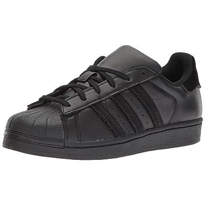 adidas Originals Boys' Superstar J Sneaker, Black/Black/Black, 3.5 M US Big Kid