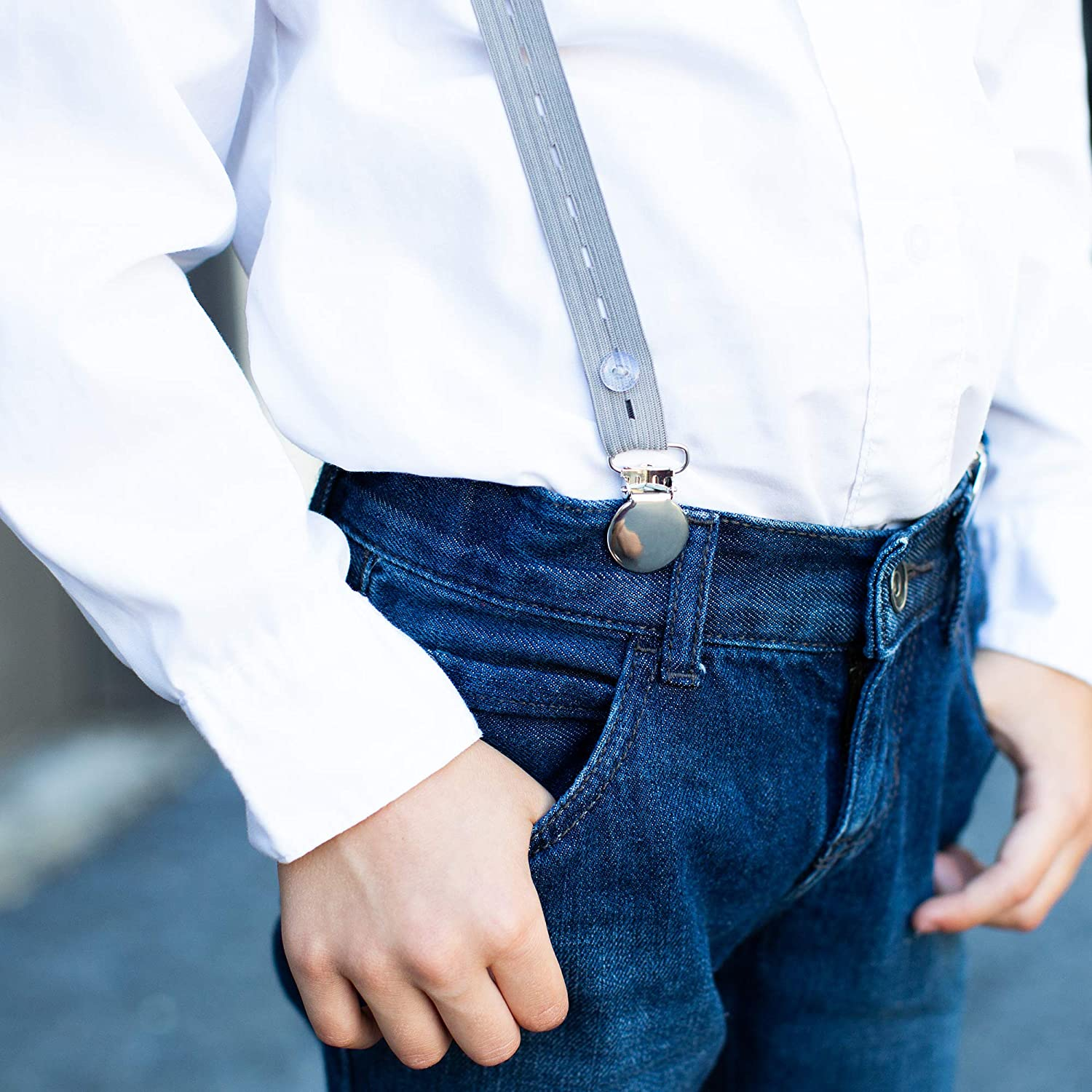 Adjustable with Buttons Adjust It Comfortable Fashionable Suspenders for Kids