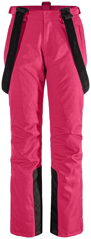 Unbekannt Skihose für Damen | Outhorn SPDN600 | wasserdichte Snowboardhose für Piste Ski | Winterhose mit Kantenschutz Trägerhose Damenhose Schneesaule Winter Wassersäule 3000 (Pink,)