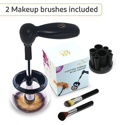 Limpiador Brochas Maquillaje | Kit de Limpieza en Seco Para Cepillos Profesional | 2 Brochas Incluidas